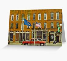 Down Town Howell, MI. Greeting Card