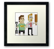 Shaun of the Dead - Pixel Art Framed Print