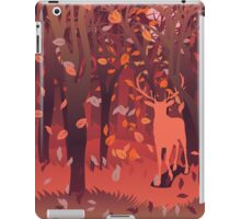 Silhouette of a stag in the forest at the autumn time 2 iPad Case/Skin