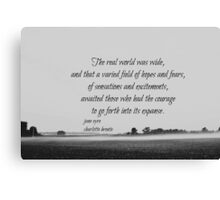 Jane Eyre World Canvas Print