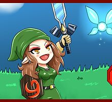 Link Freya and the Master Sword! by Arcticfox223