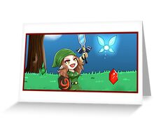 Link Freya and the Master Sword! Greeting Card
