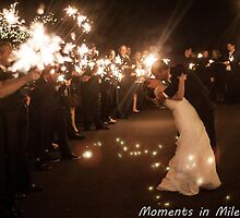 Sparkler Exit - Hinchcliff Wedding by Brittany Kinney