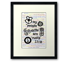 "My ""People Skills"" are ""Rusty"" V2 w/ Avatar & Firefly Framed Print"