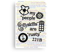 "My ""People Skills"" are ""Rusty"" V2 w/ Avatar & Firefly Canvas Print"