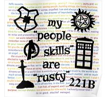 """My """"People Skills"""" are """"Rusty"""" V2 Poster"""