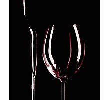 Wine bottle and glass Photographic Print
