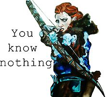 Game of Thrones- Ygritte, You know nothing by drknice