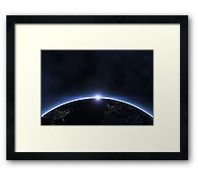 Night planet Framed Print