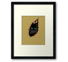 Alice in Wonderland - Cat surprise Framed Print
