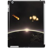 Night planet and space ship iPad Case/Skin