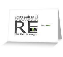 Renew Greeting Card