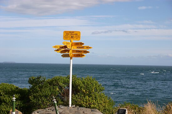 End of the World sign post by oiseau