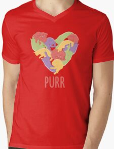 Purr Mens V-Neck T-Shirt