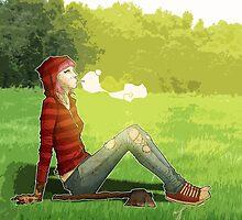 Red Riding Hood's Break by mingmonger