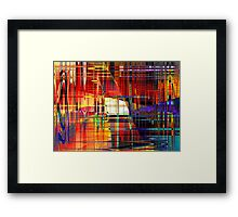 steel 3 Framed Print