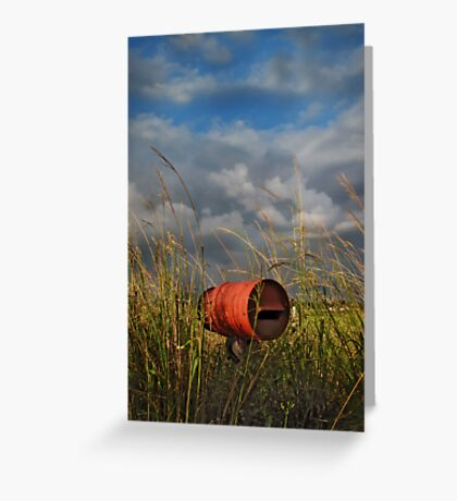 between the wish and the thing, life lies waiting Greeting Card