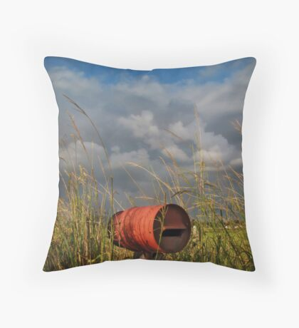 between the wish and the thing, life lies waiting Throw Pillow