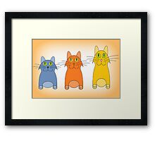 Three Little Cats Framed Print