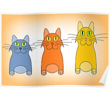 Three Little Cats Poster