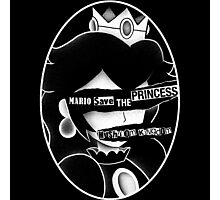Mario save the princess Photographic Print