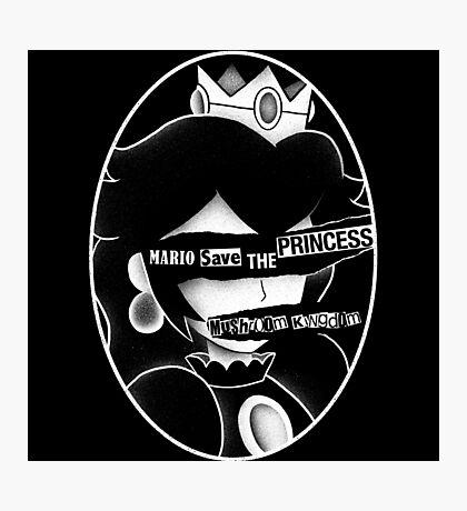 Mario save the princess Photographic Print