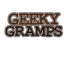 Geeky Gramps Photographic Print