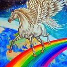 Rainbow Runner by WildestArt