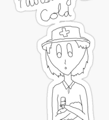 Cold Nurse Sticker