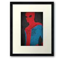 The Amazing SpiderMan Framed Print