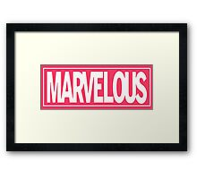 Marvel - ous Framed Print