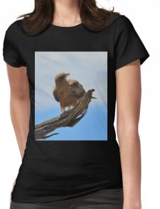 Yellow Billed Kite - Looking at Heaven Womens Fitted T-Shirt