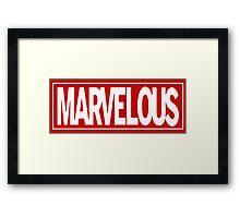 Marvel - ous Framed Print