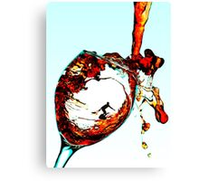 Surfing In A Cup Of Wine Canvas Print