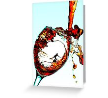 Surfing In A Cup Of Wine Greeting Card