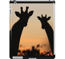 Giraffe Sunset - African Wildlife - Peaceful Tranquility iPad Case/Skin