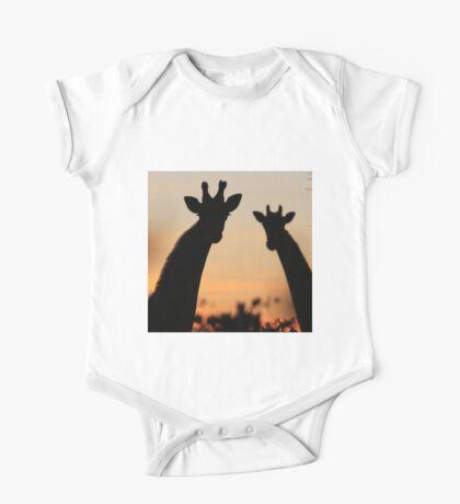 Giraffe Sunset - African Wildlife - Peaceful Tranquility One Piece - Short Sleeve