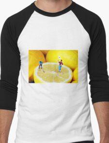 Golf Game On Lemons Men's Baseball ¾ T-Shirt