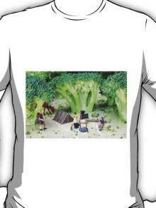 Camping Among Broccoli Jungles T-Shirt