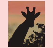 Giraffe Sunset - African Wildlife - Majestic Peace Kids Clothes