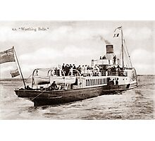 The Worthing Belle, Paddle Steamer. Photographic Print