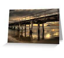 Golden Causeway Greeting Card