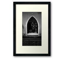 Venetian Driveway in BW Framed Print