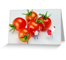 Chefs And Cherry Tomatoes Greeting Card