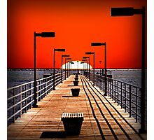 A Pier on The Thumb Photographic Print