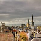Looking West from Oxfords North Gate Tower II by Rich Fletcher
