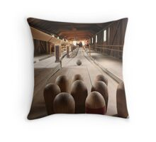 Bowling in 17th Century Style Throw Pillow