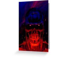 Terminator Headshot Greeting Card