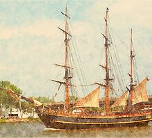 Bounty II - Heading Up Saginaw River by Francis LaLonde