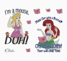 Mean Princesses Cinderella and Ariel Mini Sticker Pack by Ellador